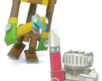 Piperoids - Funny & Angry- Circus Duo Unique paper craft robot kit