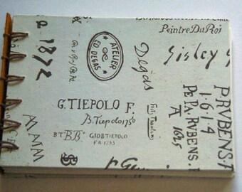 Handmade Journal for Art Lovers, Secret Belgian Binding Lets it Lay Flat