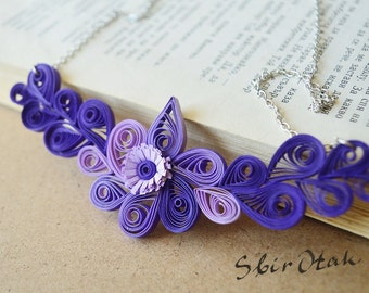 Royal Blue and Purple Necklace, Mother Day Gift, Fashion Necklace,  Blue Necklace, Blue Bridesmaid Necklace, Purple  Wedding