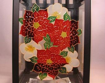 Hand-painted Festive Foliage Decorative Lantern