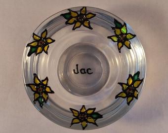 Sunflower Glass Tea-light Holder