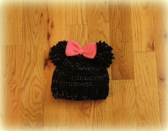 084b71701ad Glitter Minnie Mouse Inspired Hat Disney Inspired Hat