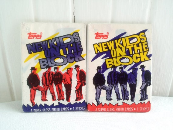 Items similar to New Kids on the Block - Trading Cards - Unopened Package 1989 - Eighties Music Pop Boy Band Donnie Mark Wahlberg NKOTB Nostalgic Gift on Etsy