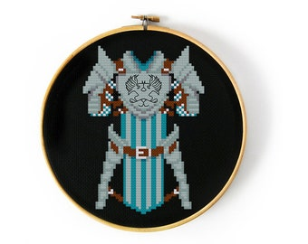 Dragon Age Grey Warden Armor Cross Stitch Pattern