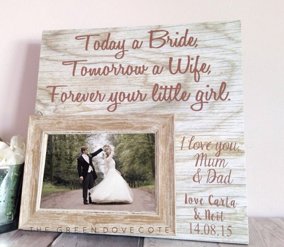 Parents Wedding Gift Today A Bride Wedding Frame Parents