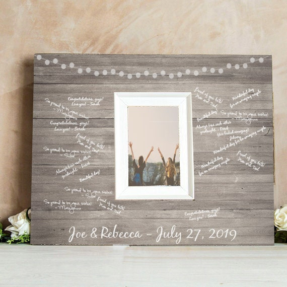 Signature Frame For A Wedding Guestbook Signing Frame Etsy