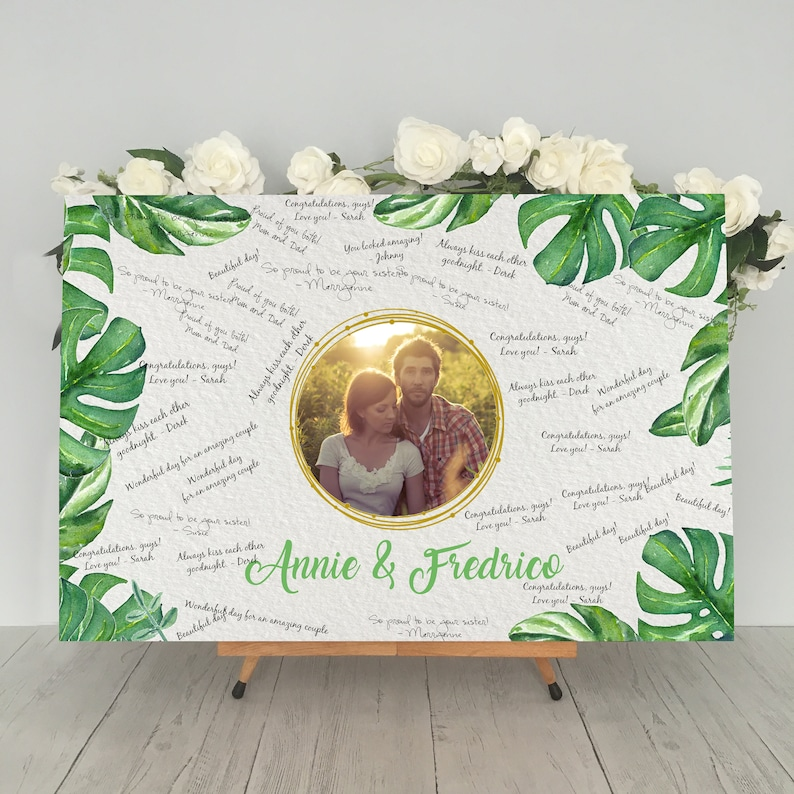 Greenery Wedding Guest Book
