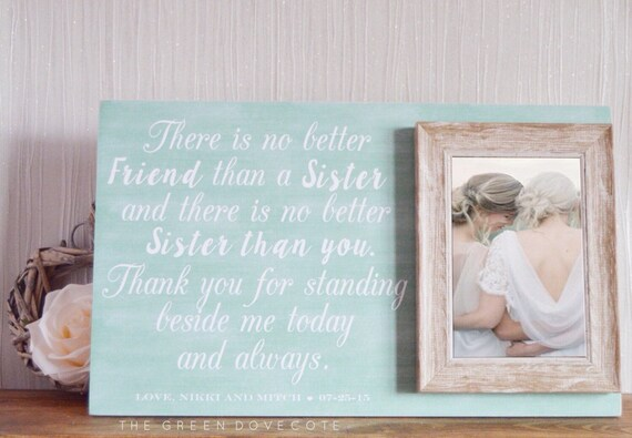 Wedding Gift Ideas From Maid Of Honor: Sister Wedding Gift Gift For Sister Maid Of Honor Gift