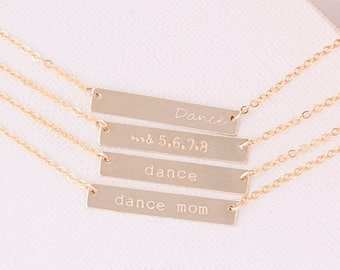 Dance Bar Necklace / Dance Necklace / Dance Mom Gift / Gifts for Dancers / Dance Jewelry / Dance Teacher Gift / Dancer Gifts