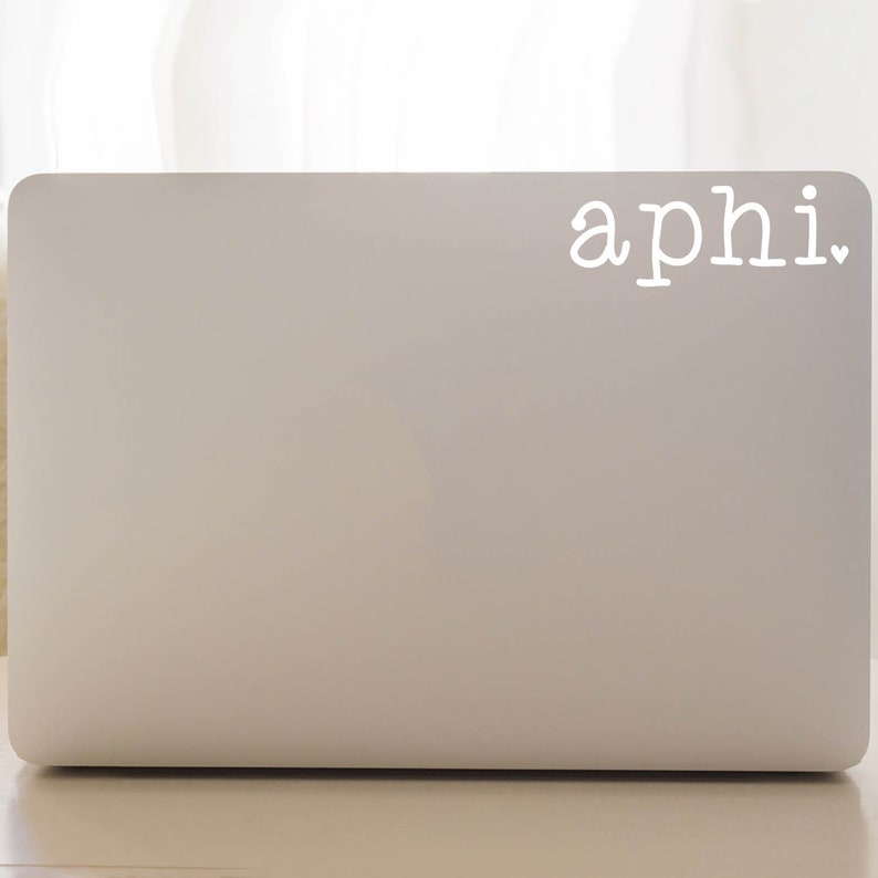 Alpha Phi Stickers APhi Car Decal A Phi Vinyl Decal Pack Alpha Phi Decal Pack Sorority Decal Set of 6 Laptop Decal APhi Decal