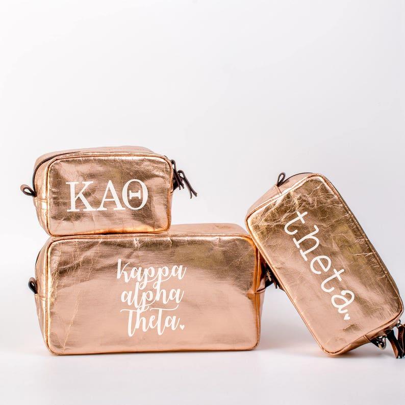 2b79d80c5e Kappa Alpha Theta Cosmetic Bag Set Theta Travel Bag KAO