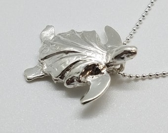 Tiny Sterling silver turtle pendant