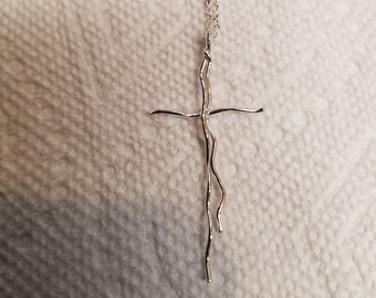 Sterling silver minimalist  cross