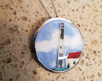 Cloisonne Oak Island, NC lighthouse
