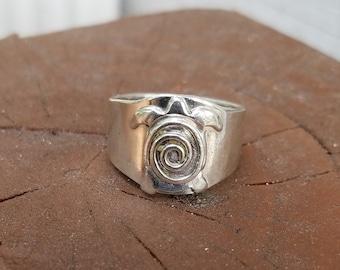 Celtic sea turtle ring