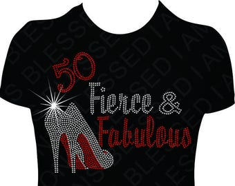 Birthday Shirt Women 50 Fierce And Fabulous Diva Adult BDay B Day T