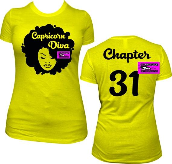 Capricorn Diva Chapter 31 Birthday Shirt Women B Day