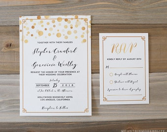 Printable Modern DIY Invitation + RSVP Card