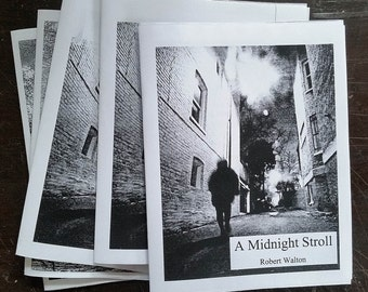 A Midnight Stroll - photo-illustrated zine
