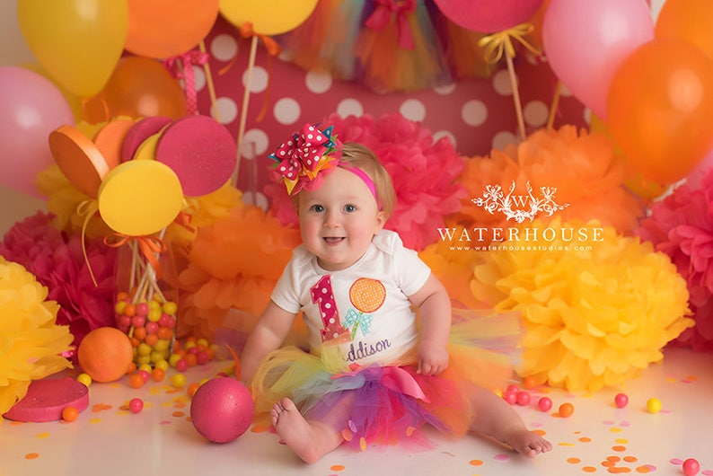 Lollipop 1st Birthday Tutu Outfit Candy Cake Smash Outfit