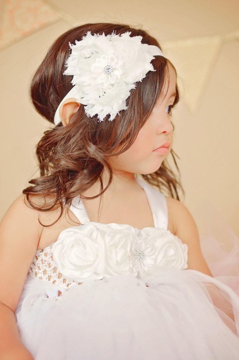 1st Birthday Baby Dress Communion Tutu Dress Custom Flower Girl Dress Angel Tutu Dress White Flower Girl Dress