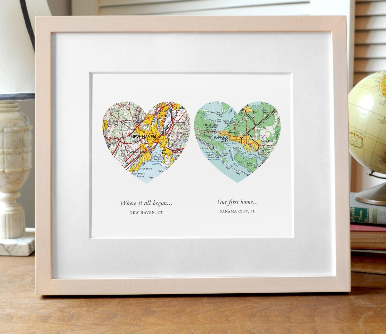 Zwei Herzen Karte drucken Hochzeit oder Verlobungsgeschenk | Etsy