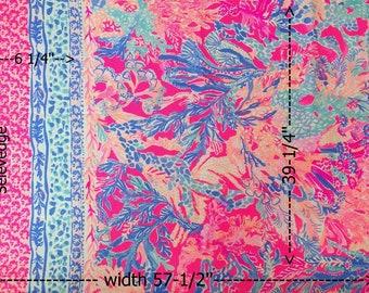 6024e6efdbd9d9 1 Panel (39'') Aquadesiac Engineered Cotton Dobby Fabric Lilly Pulitzer