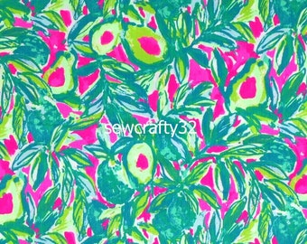 bd6931ae21337d 1 Yard Guan & Roll Cotton Dobby Fabric Lilly Pulitzer BTY