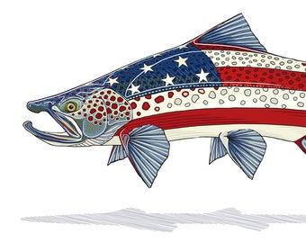 USA Brown Trout Print