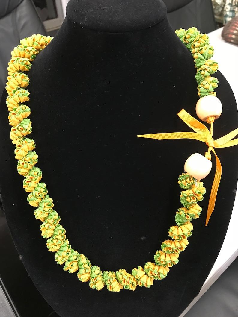 pakalana flower ribbon lei green lei hawaiian pakalana image 0