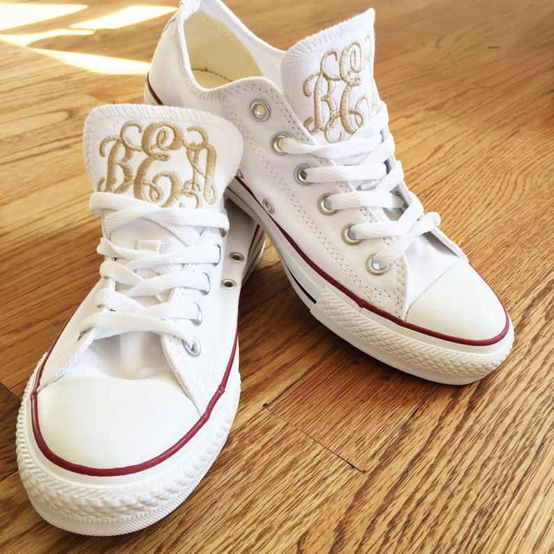 c2824a10c882a9 Women s Monogrammed Converse White Pink Navy Charcoal