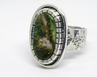 Turquoise Ring, Size 8-1/2, Pilot Mountain Turquoise mounted in Sterling silver