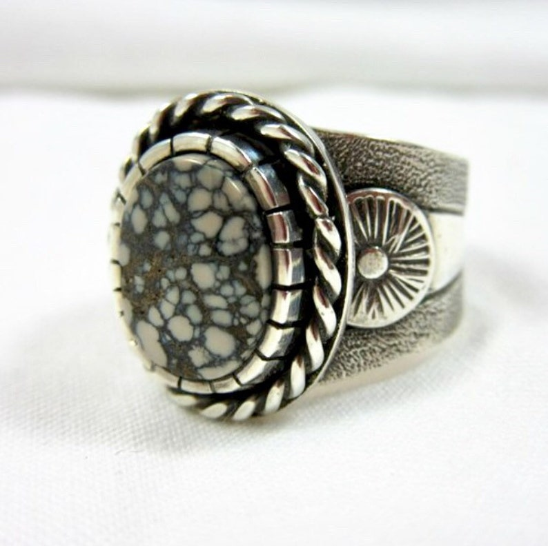 Variscite and Sterling Silver Ring. size 7-1/2. Athena Mine image 0