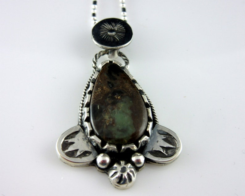 Damele Turquoise and Sterling Silver Necklace Southwestern image 0