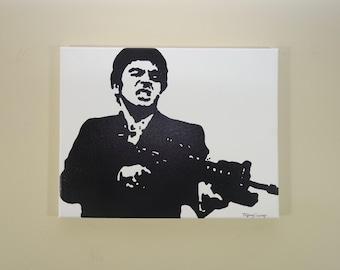 Scarface Painting (14x11) Pop Art, Gift Ideas