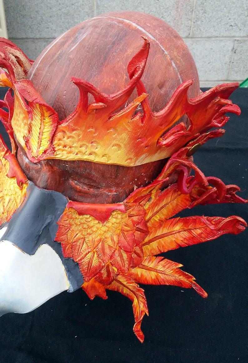 Eyeglass Compatible Leather phoenix Mask
