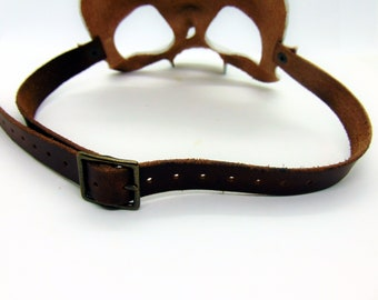leather strap and buckle mask add on