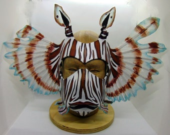 Leather Lionfish Crown and Facemask Set