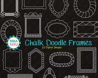 Realistic Chalk Effect Chalk Frames Clipart Instant Download Chalk Frames Commercial Use 20 Chalkboard Clipart Labels  Tags