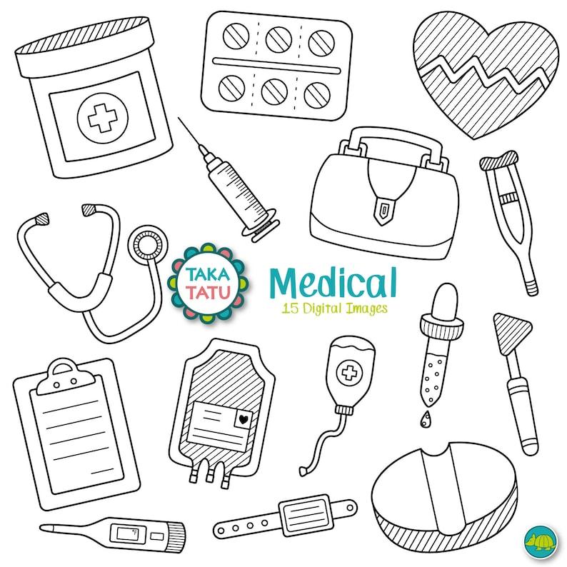 Medical Digital Stamp Medical Clipart Doctor Clipart