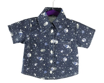 Lost in space Button Down Dress Shirt
