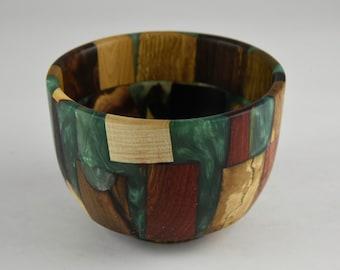 bowl, wood bowl, kitchen bowl, candy bowl, nut bowl, epoxy bowl, wood art, Wood and epoxy bowl, tp663