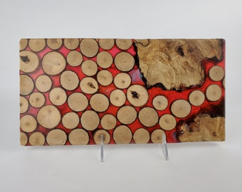 Cheese board, serving board, bread board, charcuterie board, various woods and epoxy resin, art panel, wood art, one of a kind, tp522