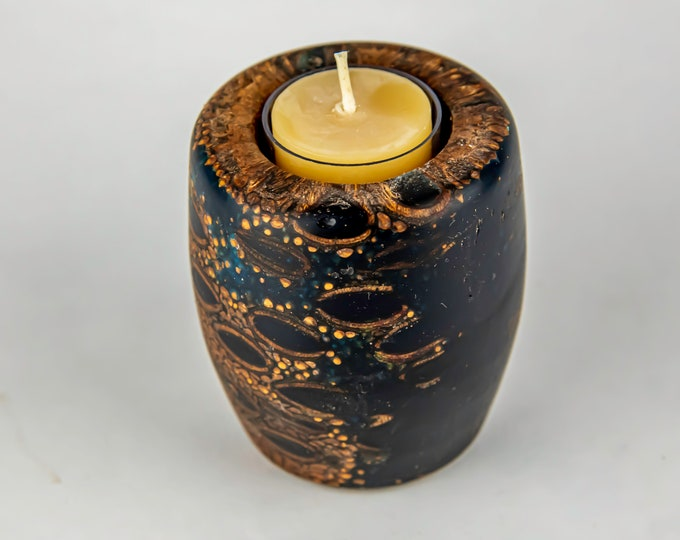 tea light, candles, candleholders, lights, lighting, home and living, banksia seed pod from Australia, dyed epoxy resin, tp623