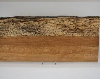 Cutting board, cheese board, serving board, bread board, charcuterie board, maple, black cherry, live edge, tp505