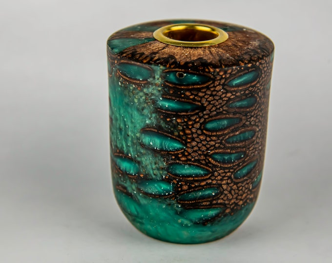 tea light, candles, candleholders, lights, lighting, home and living, banksia seed pod from Australia, dyed epoxy resin, tp629