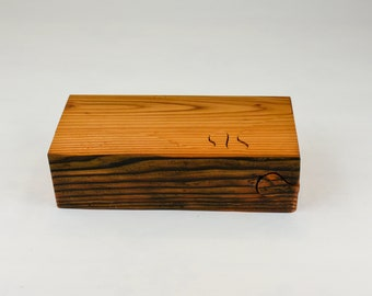 Wood Puzzle box, engagement box, small jewellery box, ring storage, salvaged Douglas fir wood, tp23