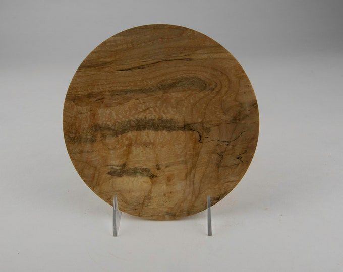 Plate, kitchen plate, wood plate, spalted Norway maple plate, tp686