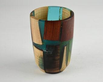 vase, wood vase, kitchen vase, candy bowl, nut bowl, epoxy bowl, wood art, Wood and epoxy vase, tp666