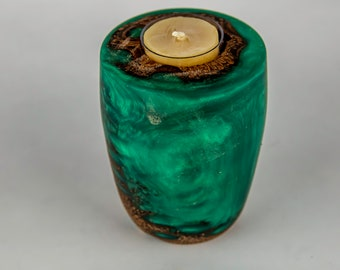 tea light, candles, candleholders, lights, lighting, home and living, banksia seed pod from Australia, dyed epoxy resin, tp626